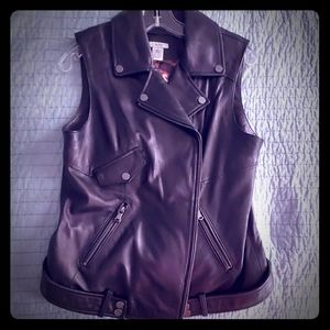 Cache Leather Vest Size M